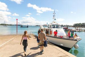 Bateau à Port blanc dans le Golfe du Morbihan copyright Simon BOURCIER - Morbihan Tourisme